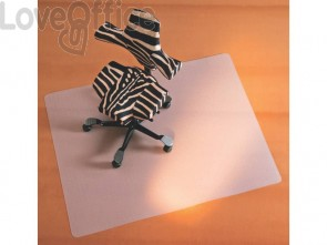 Tappeto salvapavimenti quadrato BSM opalino trasparente in PPL 130x120cm 02-1300