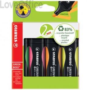 Evidenziatori Stabilo Green Boss® 2-5 mm assortiti - 6070/4 (conf. 4 pezzi)