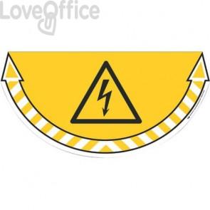 Adesivi Segnalatori CEP rischio elettrico PVC 700x350 mm. sp 0,2 mm giallo - 170105005