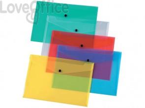Portadocumenti con bottone Q-Connect A4+ ppl trasparente KF01244 (conf.12)