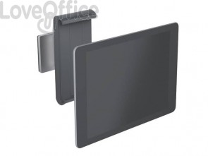 "Porta tablet da muro DURABLE per tablet da 7"" a 13"" argento metallizzato 8,5x5x18cm - 893323"