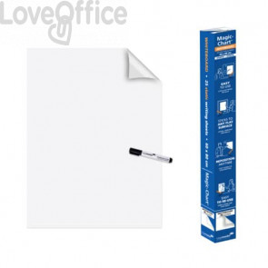 Blocco lavagna elettrostatico da parete Legamaster Magic-Chart Whiteboard 25 ff 60x80 cm bianco 7-159100