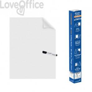 Blocco lavagna elettrostatico da parete Legamaster Magic-Chart Clearboard 25 ff 60x80 cm  trasparente - 7-159300