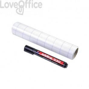 Pellicola elettrostatica da parete Legamaster Magic-Chart Flipchart 25 ff 20x30 cm quadretti bianco 7-159000-A4