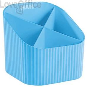 Portapenne X-LOOP HAN in polipropilene con 4 scomparti azzurro 17230-54