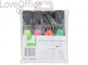 Evidenziatore Q-Connect 2-5 mm 4 colori astuccio da 4 colori - KF16041