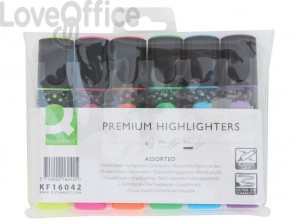 Evidenziatore Q-Connect 2-5 mm 6 colori astuccio da 6 colori - KF16042