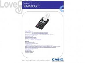 Calcolatrice scrivente CASIO display a 12 cifre - almentazione rete o batteria bianco - HR-8RCE-WE blister
