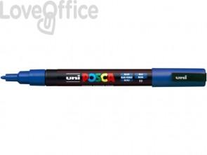 Marcatore a tempera POSCA Uni-Ball punta tonda 0,9-1,3 mm blu scuro M PC3M B