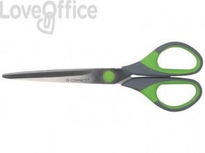 Forbici Q-Connect Softgrip grigio/verde 17,5 cm E-35271 IA