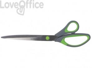 Forbici Q-Connect Softgrip lame asimmetriche grigio/verde 24,9 cm E-35293 IA