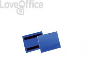 Tasche per identificazione Durable con bande magnetiche blu f.to est. mm. 163x 120x2,3-inserto A6 orizz. Cf. 50- 175607
