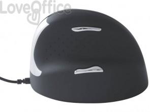 Mouse verticale per destrorsi R-GO Tools laser nero 165-195 mm con cavo RGOHE