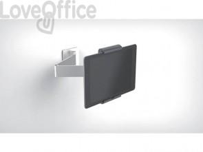 Porta tablet da muro DURABLE con braccio estensibile argento metallizzato 9,5x22,5x17cm - 893423