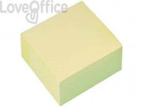 Foglietti riposizionabili Q-Connect giallo 76x76 mm blocchetto da 400 fogli - KF01346