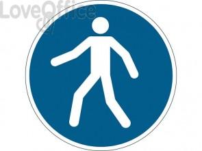 """Pittogramma da pavimento """"Passaggio obbligatorio"""" DURABLE azzurro Ø 430 mm 173106"""