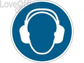 """Pittogramma da pavimento """"Indossare la protezione auricolare"""" DURABLE azzurro Ø 430 mm - 172906"""
