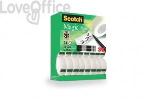 Nastro adesivo Scotch® Magic™ 19 mm x 33 m trasparente opaco - 8-1933R24TPR (conf.24 rotoli)