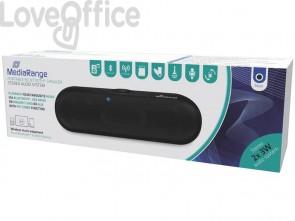 Altoparlante stereo Bluetooth Media Range nero 2x3W MR734