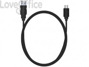 Cavo di ricarica e sincronizzazione Media Range USB 3.1 C/USB 3.0 A 1,2m nero - MRCS160