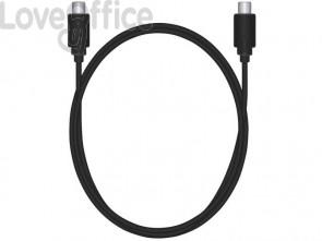 Cavo di connessione Media Range USB 3.1 Tipo C nero 1,2m MRCS161