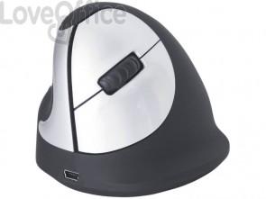 Mouse verticale per mancini R-GO Tools laser nero 165-195 mm wireless RGOHEWLL