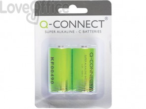 Batteria alcalina Q-Connect C 1.5 V C 1,5 V conf.2 - KF00490