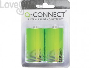 Batteria alcalina Q-Connect D 1.5 V D 1,5 V conf.2 - KF00491