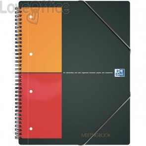 Quaderno con spirale MEETINGBOOK INTERNATIONAL Oxford - A4+ - 5 mm - 80 fogli