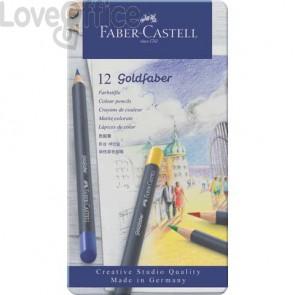 Matite colorate permanenti Goldfaber Faber-Castell 12 colori - 114712 (Conf. 12 pezzi)