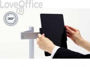 Porta tablet da tavolo Durable, morsetto e braccio di supporto estensibile argento metallizzato 10x44x21cm - 893123