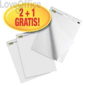 Blocchi lavagna Post-it® Meeting Chart bianco 63,5x77,5 cm 30 fogli Promo Pack (conf.3)