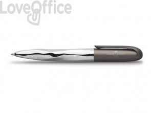 Penna a sfera Faber-Castell N'Ice Metallic XB grigio antracite 149606
