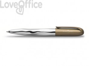 Penna a sfera Faber-Castell N'Ice Metallic XB verde oliva 149608