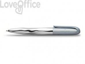 Penna a sfera Faber-Castell N'Ice Metallic XB grigio azzurro 149607
