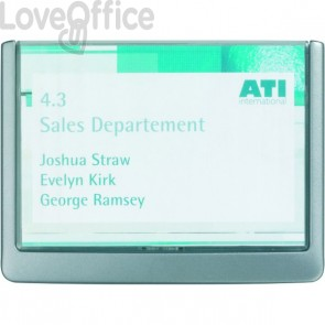 Targa per porte e pareti Click Sign Durable - 14,9x10,55 cm - grafite - 4861-37
