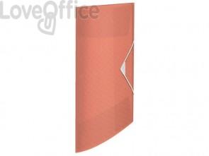 Cartella a 3 lembi Esselte Colour'Ice PP goffrato A4 albicocca 626221