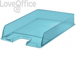 Vaschette portacorrispondenza Esselte Colour'Ice polistirolo A4 blu trasparente (conf.10)