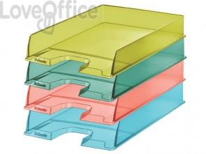 Vaschette portacorrispondenza Esselte Colour'Ice polistirolo A4 verde trasparente (conf.10)