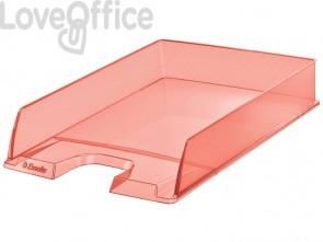 Vaschette portacorrispondenza Esselte Colour'Ice polistirolo A4 albicocca trasparente (conf.10)