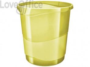 Cestino gettacarte Esselte Colour'Ice polistirene giallo trasparente 14 litri 626287