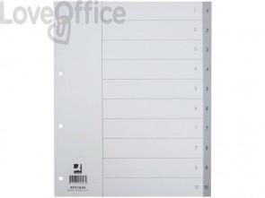 Divisore numerico Q-Connect grigio XL 24,5x29,7 cm ppl 1-10 KF01846