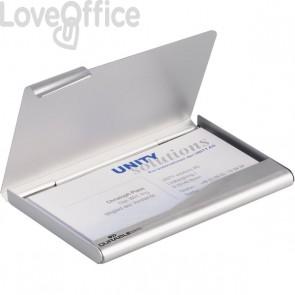 Portabiglietti da visita tascabile Box Durable - acciaio - 9x5,5 cm - 2415-23