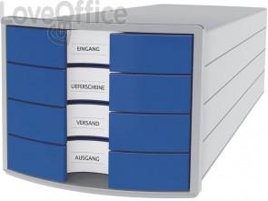 Cassettiera IMPULS HAN in polistirolo con 4 cassetti chiusi blu 1012-14