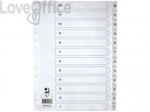 Divisore numerico Q-Connect bianco 22,5x29,7 cm ppl 1-12 KF00181