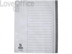Divisore numerico Q-Connect grigio XL 24,5x29,7 cm ppl 1-20 KF02295