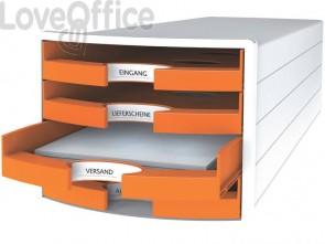Cassettiera IMPULS HAN in polistirolo con 4 cassetti aperti arancione 1013-51
