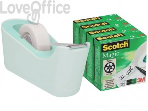 Dispenser per nastro adesivo Scotch® Classic C18 menta + 4 rotoli di nastro adesivo Scotch® Magic