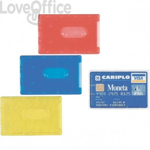 Portacards rigidi Favorit - semi-trasparente assortiti - 8,5x5,4 cm - 100500081 (conf.100)
