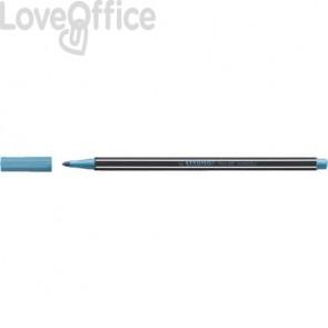 Pennarellino Stabilo Pen 68 metallic 1 mm - blu metallizzato - 68/841